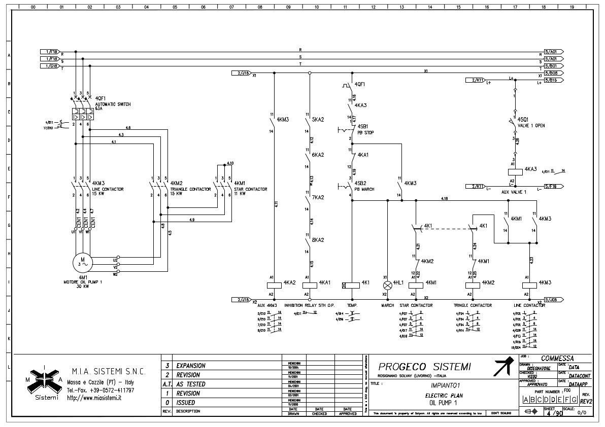 Esempio di progetti elettrici mia sistemi for Teleruttore schema
